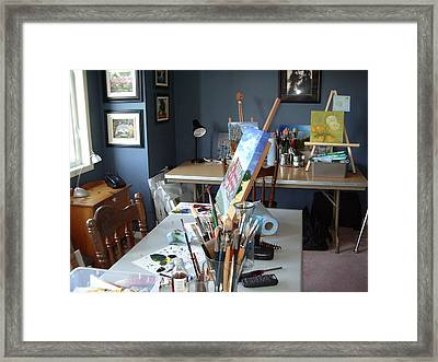 Framed Print featuring the painting  My Station by Diane Daigle