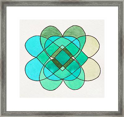 Natural Forms Framed Print by Norma Appleton