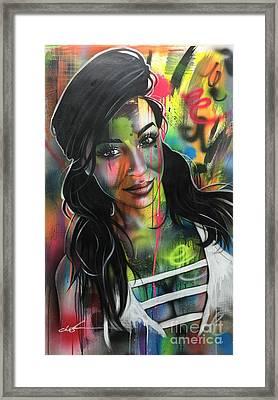 Neon Girl Framed Print