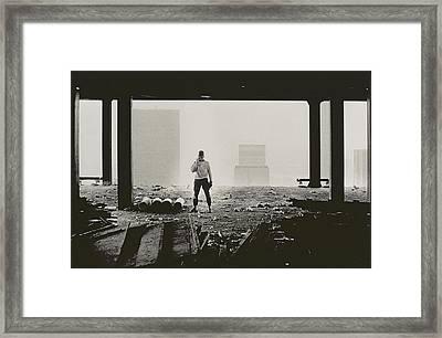New York City  Untitled Three Framed Print by Nat Herz
