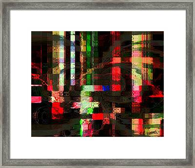 Framed Print featuring the painting  Night Rain by Fania Simon