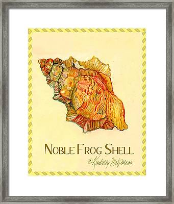 Noble Frog Shell Framed Print by Kimberly McSparran