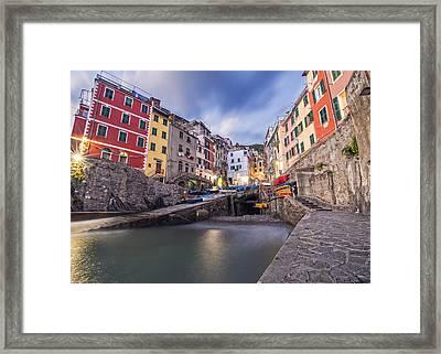 Notte A Riomaggiore Framed Print by Brad Scott