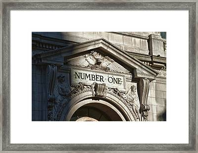Number One In Color Framed Print by Val Black Russian Tourchin
