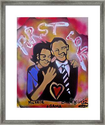 Obama First Love... Framed Print by Tony B Conscious