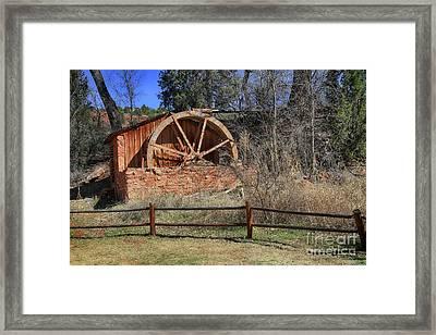 Old Brick Water Mill  Framed Print by Teresa Zieba