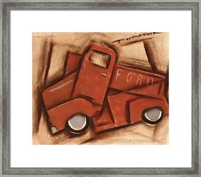 Old Cubism Truck Art Print Framed Print