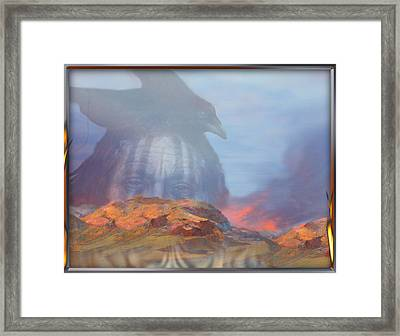 ' Old Fire Eyes Returns ' Framed Print