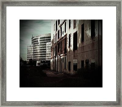 Old Mills And New Offices Framed Print by Kat Loveland