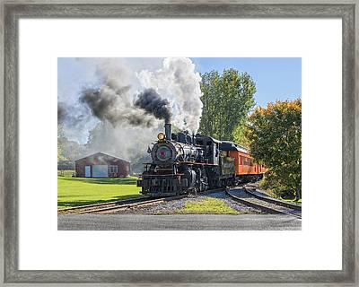 Old Vintage Steam Engine Framed Print