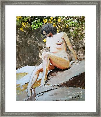 On The Rocks 2 Framed Print by Judy Kay