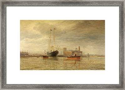 Opening Of The Royal Edward Dock, Avonmouth Framed Print by Arthur Wilde Parsons