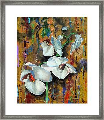 Orchid Yo Framed Print by Laura Pierre-Louis