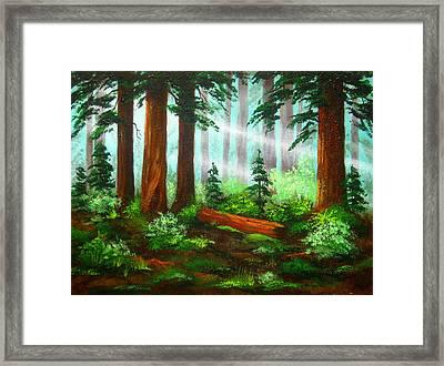 Oregon  Woods Framed Print by Shasta Eone