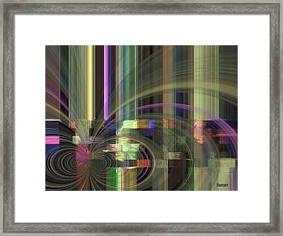 Framed Print featuring the mixed media  Our Rain by Fania Simon