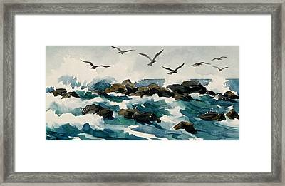 Out To Sea Framed Print by Art Scholz