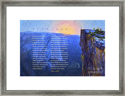 Overlook Poem Framed Print by Korrine Holt