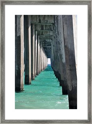 Pensacola Beach Pier Framed Print
