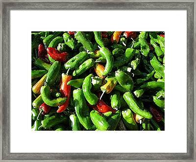 Peppers Framers Market Sicily Framed Print