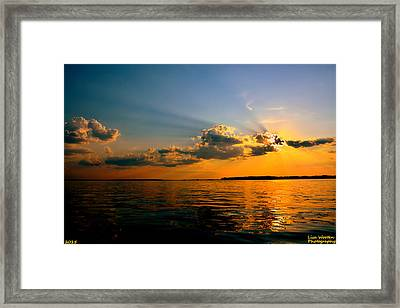 Perfect Ending To A Perfect Day Framed Print