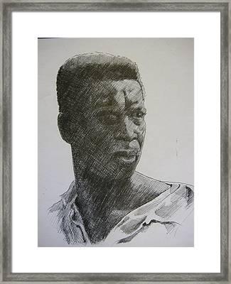 Photograph Of K. C. Framed Print by Dalushaka Mugwana