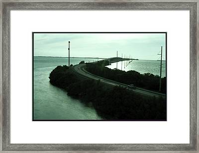 Photography Of Roads N Baches 90 Miles South Of Miami On The Island Chain Of Islamorada Framed Print