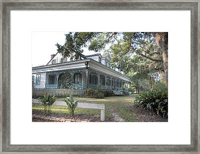 Framed Print featuring the photograph  Plantation Home by John Hix