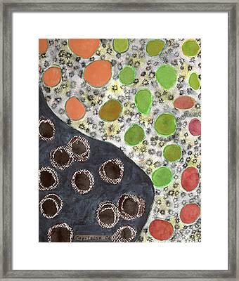Playful Yin And Yang Pattern Framed Print by Heidi Capitaine
