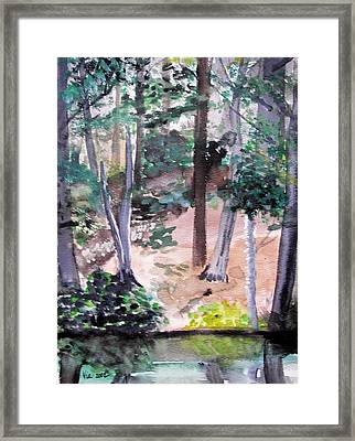 Plein Aire Durand Park Framed Print by Judy Via-Wolff