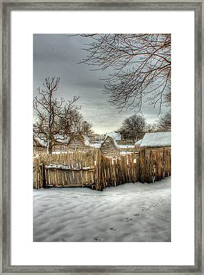 Plimoth 1629 Framed Print by Jack Costello