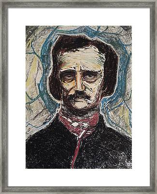 Poe Dreaming Dreams  Monotype Series I Framed Print by Raven Creature