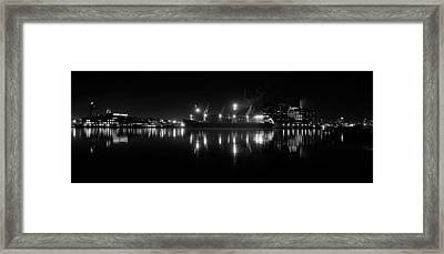 Point Lights Bw Framed Print