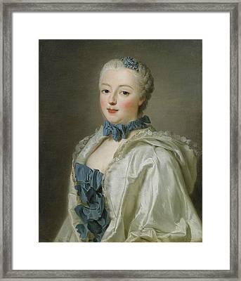Portrait Of Francoise-marguerite De Sevigne  Framed Print