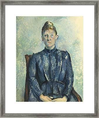 Portrait Of Madame Cezanne  Framed Print