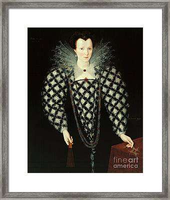 Portrait Of Mary Rogers Framed Print