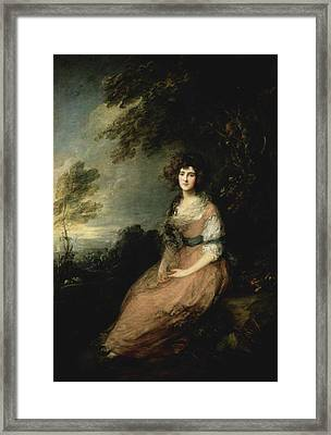 Portrait Of Mrs Framed Print by MotionAge Designs