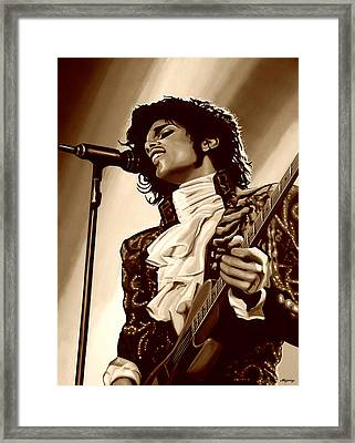Prince The Artist Framed Print by Paul Meijering