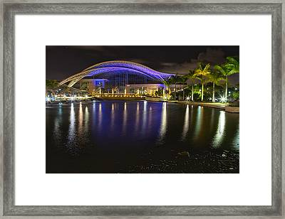Puerto Rico Convention Center At Night Framed Print by George Oze