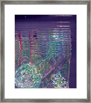 Purple Linear Abstraction Framed Print by Anne-Elizabeth Whiteway