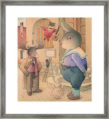Rabbit Marcus The Great 21 Framed Print by Kestutis Kasparavicius