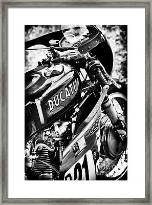 Racing Ducati Monochrome Framed Print