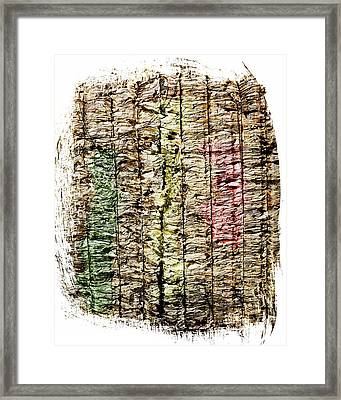 Recycled Paper Framed Print