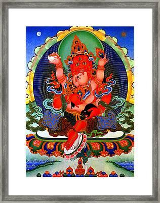 Red Jambhala  1 Framed Print by Lanjee Chee