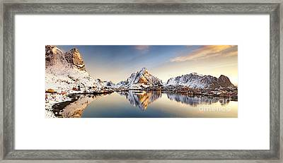Reine Lofoten Islands Framed Print by Janet Burdon