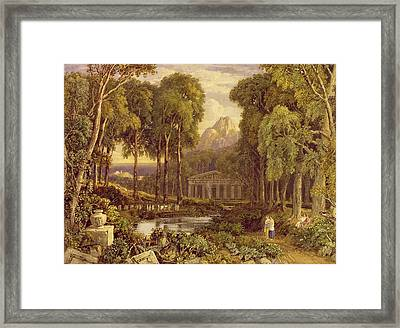 Religious Ceremony In Ancient Greece  Framed Print by Francis Oliver Finch