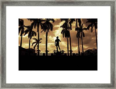 Replica Of The Michelangelo Statue At Ringling Museum Sarasota Florida Framed Print