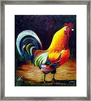 Rooster Framed Print by Jose Manuel Abraham