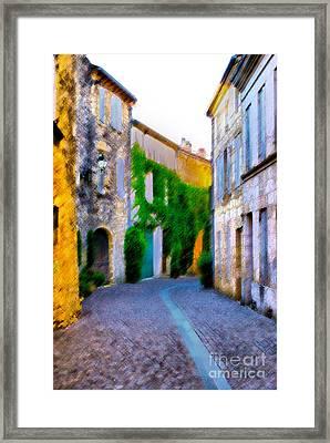 Rue Francaise French Street Framed Print by Sandra Cockayne