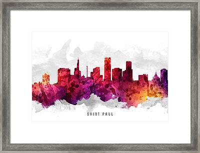Saint Paul Minnesota Cityscape 14 Framed Print by Aged Pixel