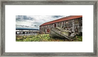 Salmon Cannery Framed Print by DMSprouse Art